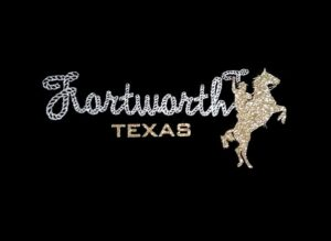 Image of Fort Worth Texas PreCut HTV Glitter Design