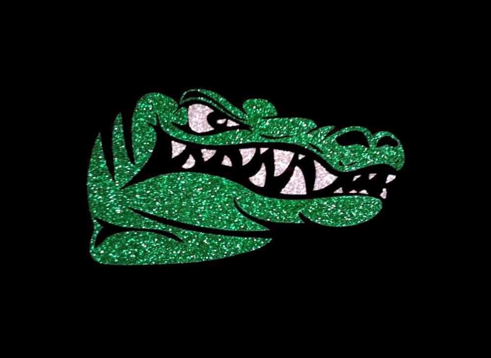 Image of Gator PreCut HTV Glitter Design