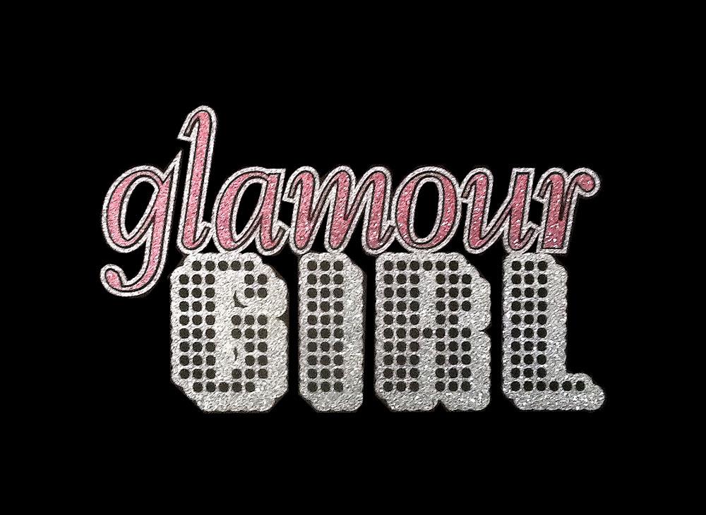 Image of Glamour Girl PreCut HTV Glitter Design