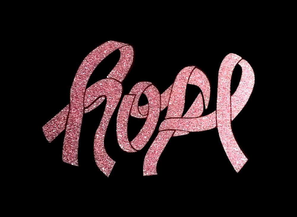 Image of Hope PreCut HTV Glitter Design