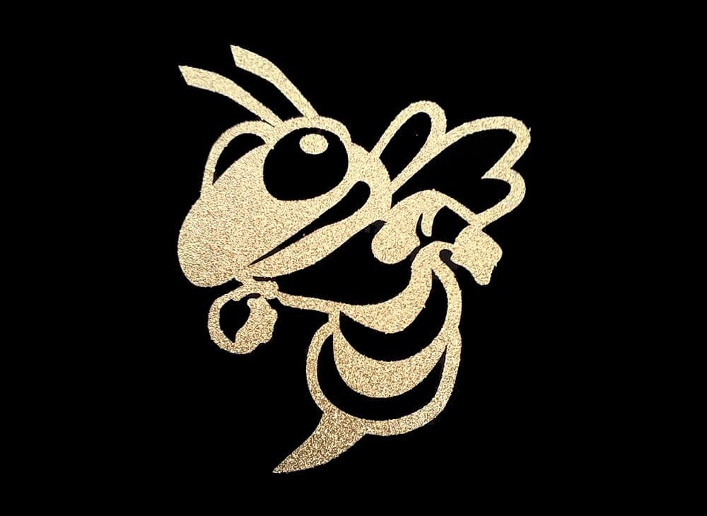 Image of Hornet PreCut HTV Glitter Design