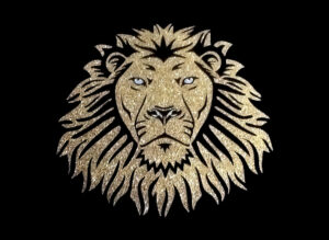 Image of Lion PreCut HTV Glitter Design