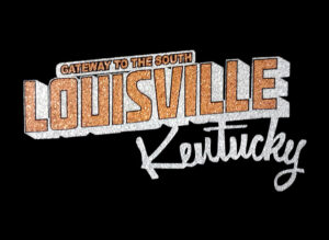 Image of Louisville Kentucky PreCut HTV Glitter Design
