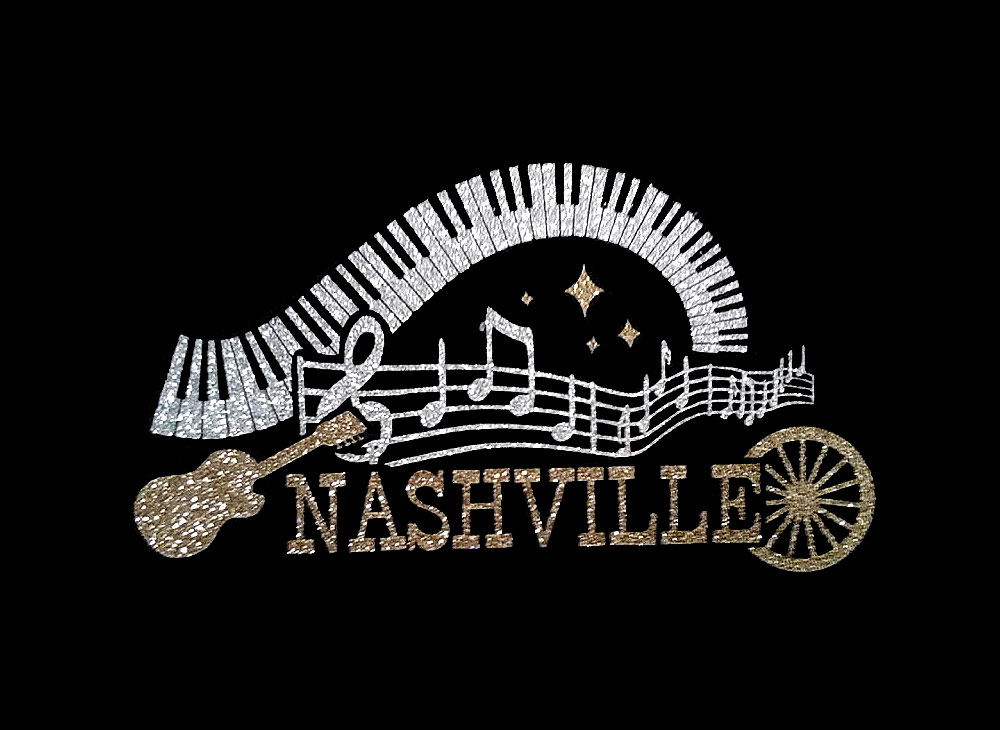 Image of Nashville PreCut HTV Glitter Design