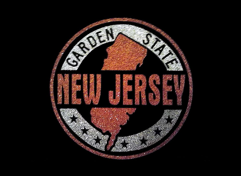 Image of New Jersey PreCut HTV Glitter Design