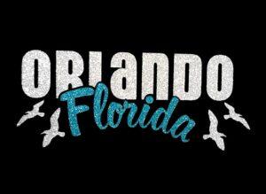 Image of Orlando Florida PreCut HTV Glitter Design