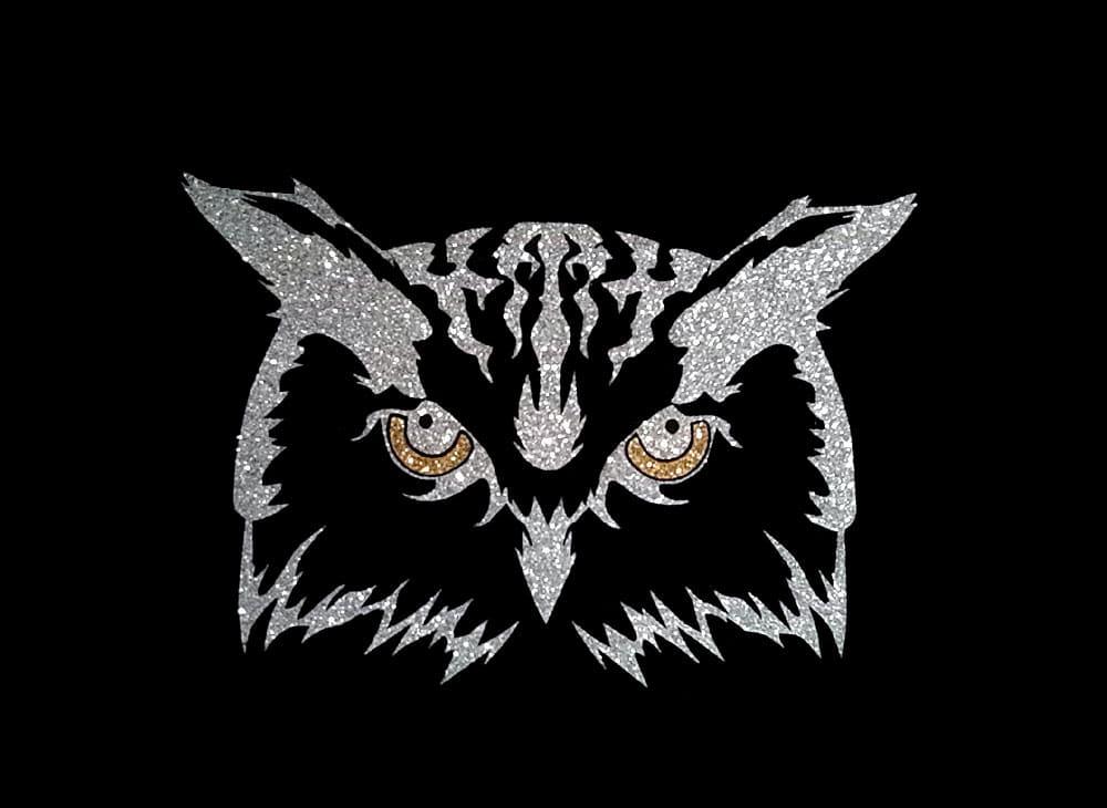Image of Owl PreCut HTV Glitter Design