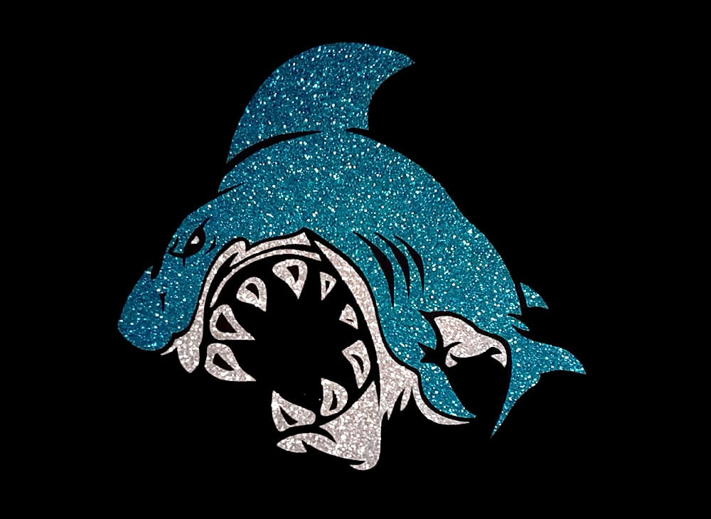 Image of Shark PreCut HTV Glitter Design