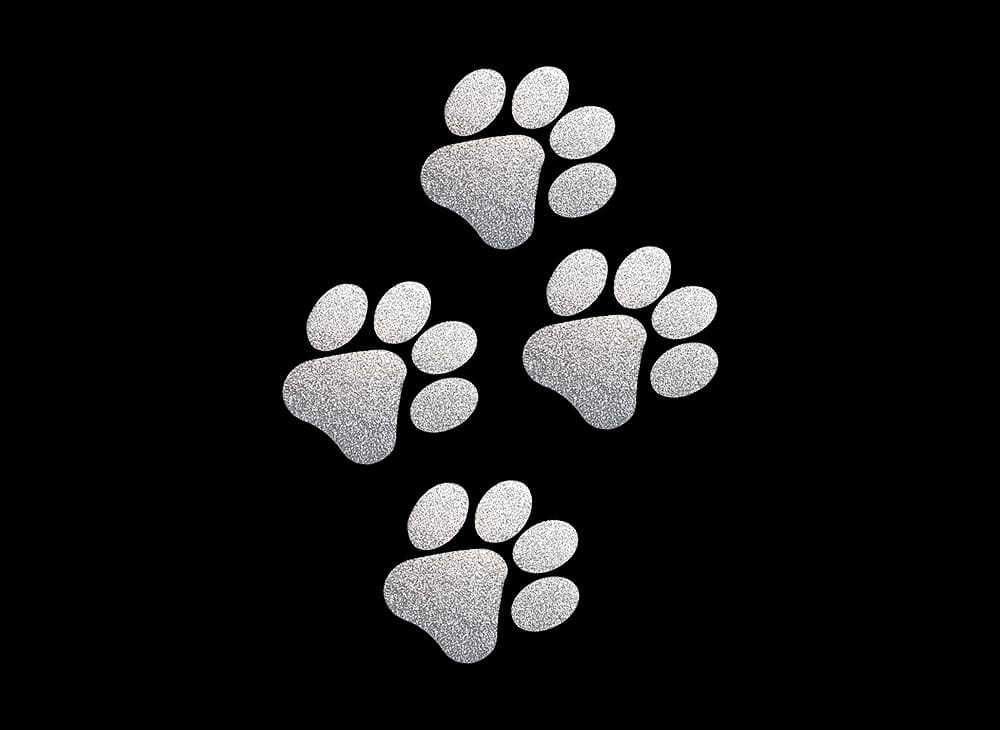 Image of Silver Paws HTV Glitter Design