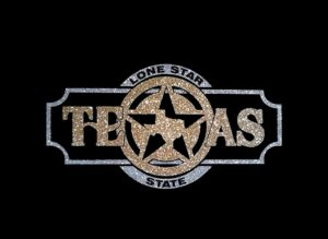 Image of Texas PreCut HTV Glitter Design