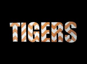 Image of Tigers PreCut HTV Glitter Design