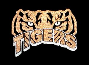 Image of Tigers with Scratches PreCut HTV Glitter Design