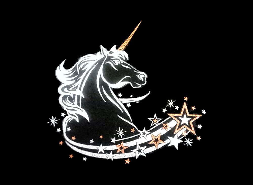 Image of Unicorn PreCut HTV Glitter Design