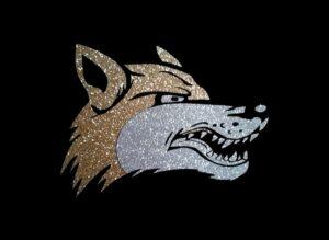 Image of Wolf PreCut HTV Glitter Design