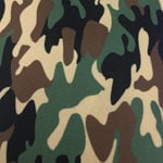 Image of Twill USA Woodland (Army Camo) Fabric Color Square