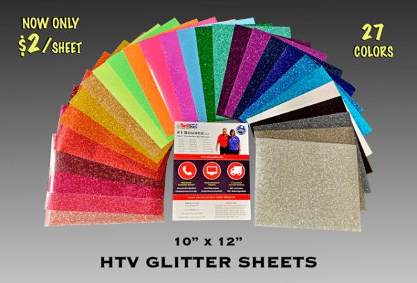 Image of HTV Glitter Sheets